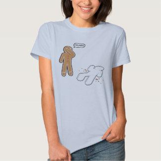 Gingerbread man Ironic Crime scene 'CRUMBS' Tshirt