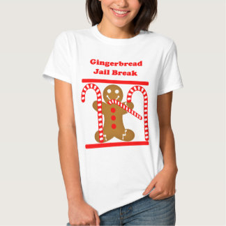 Gingerbread Man Jail Break Tee Shirt