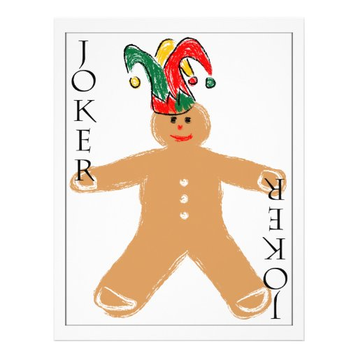 Gingerbread Man - Joker Personalized Flyer