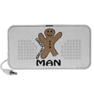 Gingerbread Man Laptop Speakers