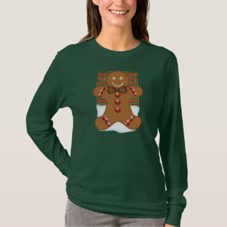 Gingerbread Man Long Sleeve Jumper For Women T-Shirt