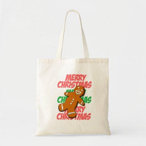 Gingerbread Man Merry Christmas Bag