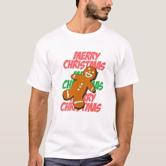 Gingerbread Man Merry Christmas T-shirt