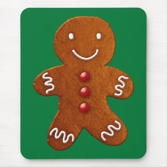 Gingerbread Man Mouse Pad