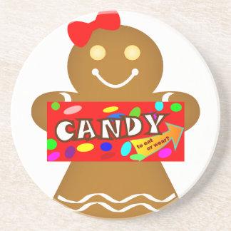 Gingerbread Man New Wardrobe Drink Coasters