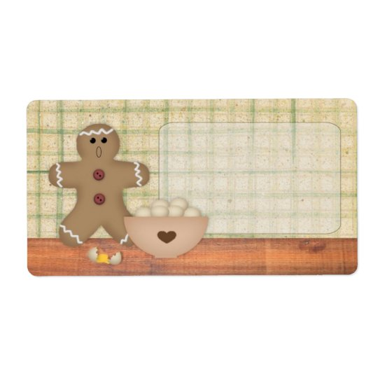 Gingerbread Man Oops Label Shipping Label