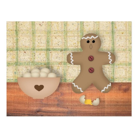 "Gingerbread Man ""Oops"" Recipe Card"