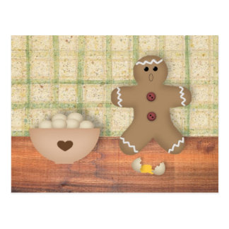 "Gingerbread Man ""Oops"" Recipe Card Postcard"