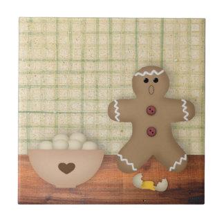Gingerbread Man Oops Tile