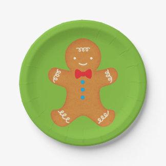 Gingerbread Man Paper Plate