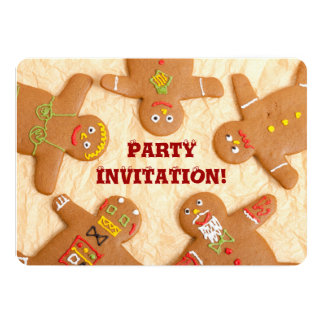 Gingerbread Man Party Invitatation Card