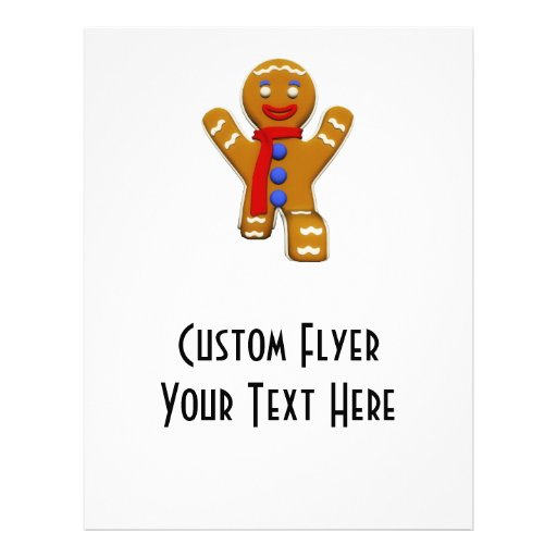 Gingerbread Man - Perfect Landing Personalized Flyer