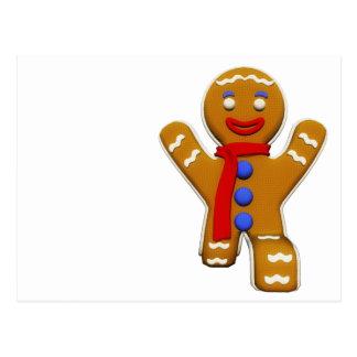 Gingerbread Man - Perfect Landing Postcard