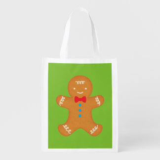 Gingerbread Man Reusable Grocery Bag