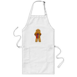Gingerbread Man - Scared - Original Colors Apron