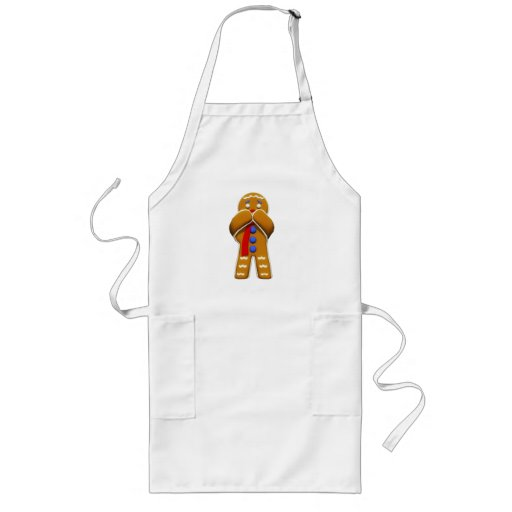 Gingerbread Man - Scared - Original Colors Apron