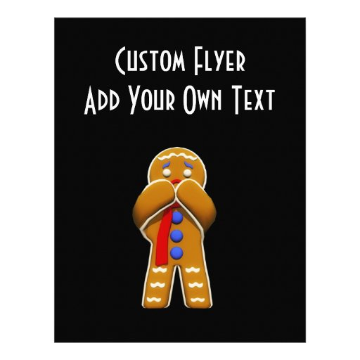Gingerbread Man - Scared - Original Colors Custom Flyer