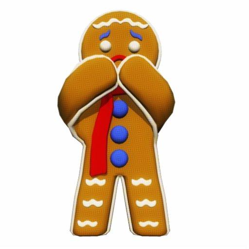 Gingerbread Man - Scared - Original Colors Photo Sculptures