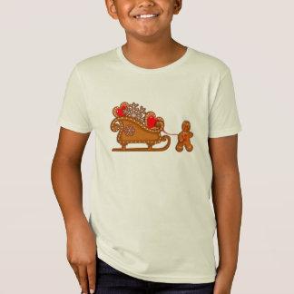 GINGERBREAD MAN & SLEIGH by SHARON SHARPE T-Shirt