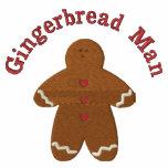 Gingerbread Man (smaller) Custom Embroidery Design Polos