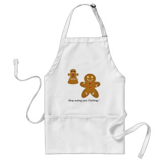 Gingerbread Man Stop eating your Clothing Standard Apron