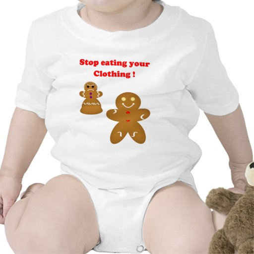 Gingerbread Man Stop eating your Clothing Tees