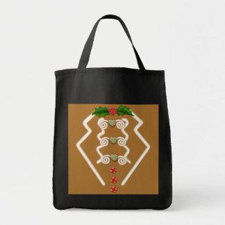 Gingerbread Man Tuxedo Tote Bags