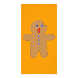 Gingerbread Man with Bite Halloween Crossover Custom Photo Card