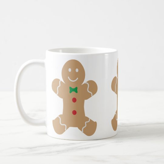 Gingerbread Man with Name Coffee Mug