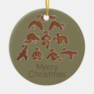 Gingerbread Man Yoga Circle Ornament