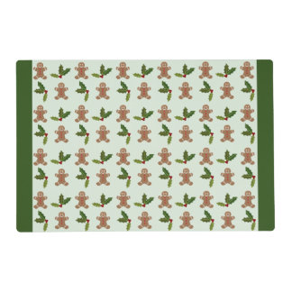 Gingerbread Men and Holly Placemat