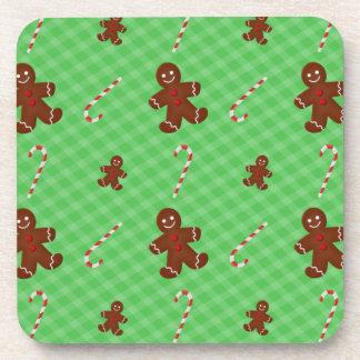 Gingerbread Men & Candy Canes Coaster Set