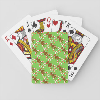 Gingerbread Men & Candy Canes Playing Cards