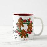 Gingerbread  Men Christmas Gifts Two-Tone Mug