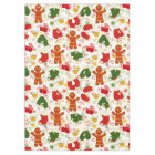 Gingerbread Men Colourful Retro Christmas Holiday Tablecloth