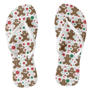 Gingerbread Men Flip Flops