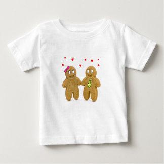 gingerbread men hearts baby T-shirt