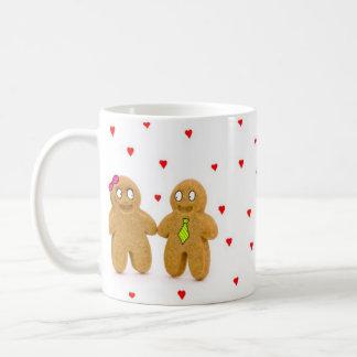 gingerbread men hearts mug