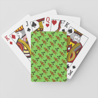 Gingerbread Men & Holly Playing Cards
