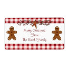 Gingerbread Men Label