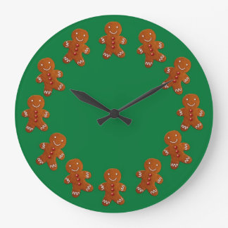 Gingerbread Men Large Clock