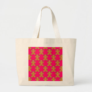 Gingerbread Men Large Tote Bag