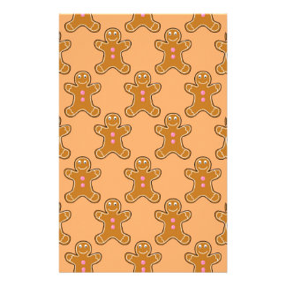 Gingerbread Men Personalized Stationery