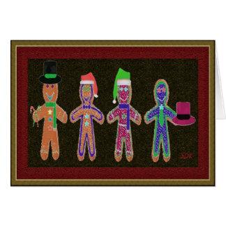 Gingerbread Men Quartet Greeting Card