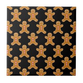 Gingerbread Men Small Square Tile