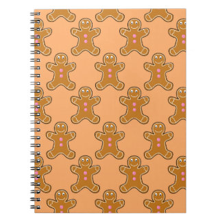 Gingerbread Men Spiral Note Books
