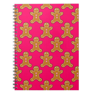 Gingerbread Men Spiral Notebook
