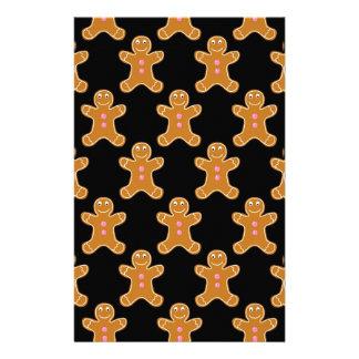 Gingerbread Men Stationery Design