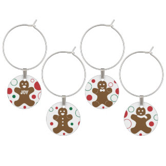 Gingerbread Men Wine Charms