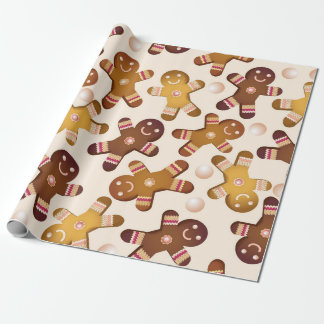 Gingerbread mens wrapping paper